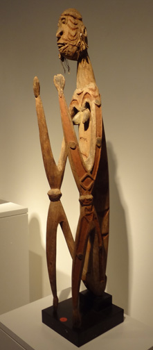 Asmat seated female figure