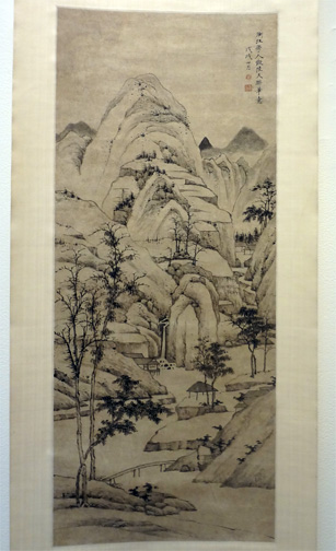 Tall hanging scroll