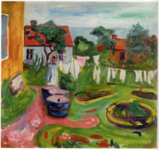 """Clothes on a line in Asgardstrand"" by Munch"