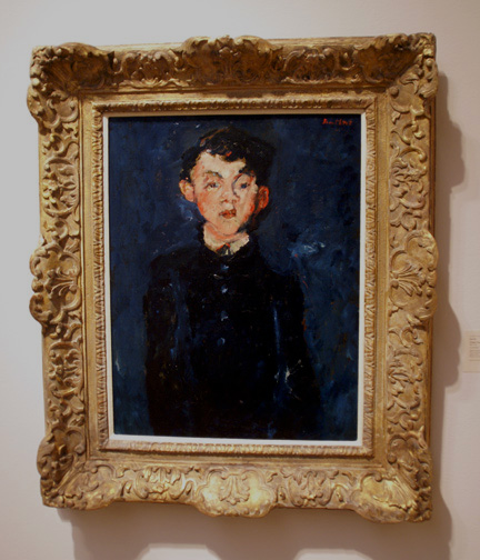 Soutine portrait of a boy