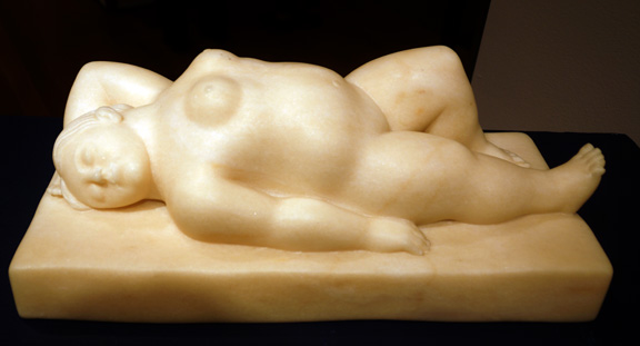 Botero marble nude