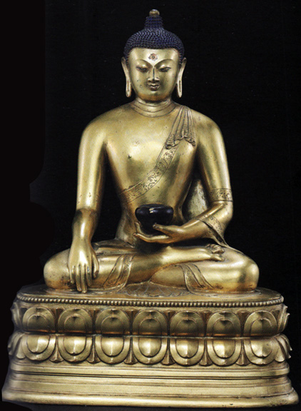 Gilt bronze of Buddha from Mongolia