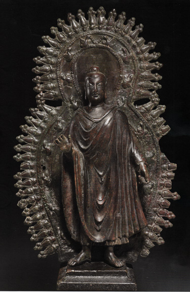 Rare bronze figure of Buddha