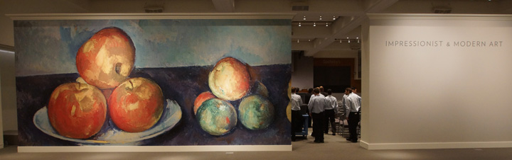 Auction Mural of Cezanne fruit