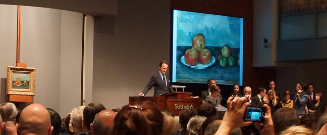 Tobias Meyer auctioning off Cézanne