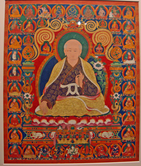 Thangka depicting Sachen Kunga Nyingpo