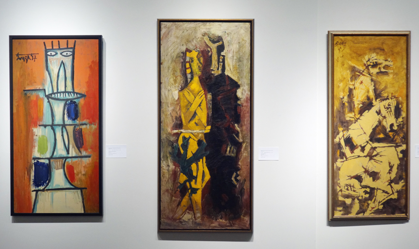 Left by Souza and two by Husain