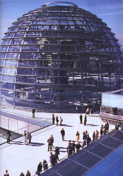 Glass dome of the Reichstag by Foster & Partners