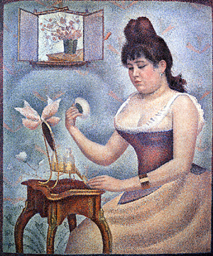 Young Woman Powdering Herself by Seurat