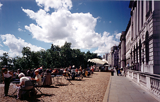 Esplanade cafe at Somerset House
