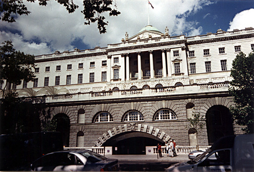 Arched watergate along the Thames at Somerset House