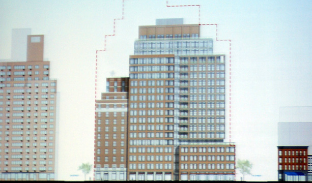 Renderng of proposed residential buildings on Seventh Avenue