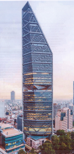 Third facade of Torre Reforma