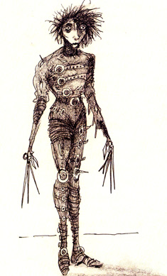 Burton sketch of Scissorhands