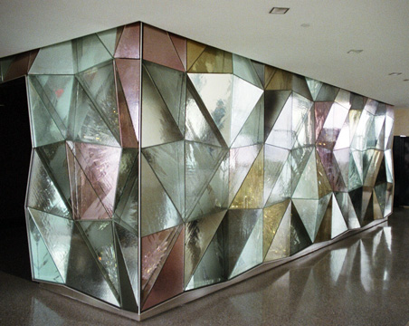 Glass prism wall