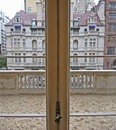 Gravel on second floor balcony
