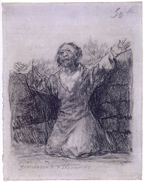 Weeping and Wailing by Goya