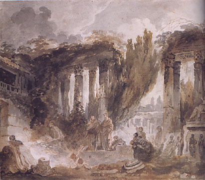 Excavation of a Roman Ruin by Fragonard