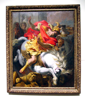 """Marcus Curtius Leaping Into The Void"" by Le Sueur"