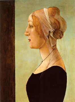"""Profile Portrait of a Woman"" by Botticelli"