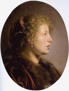 """Study of a Young Woman in Profile"" by De Bray"