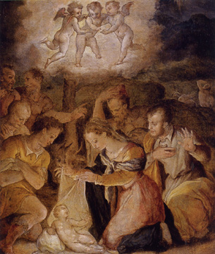 """The Nativity with the Adoration of the Shepherds"" by Vasari"
