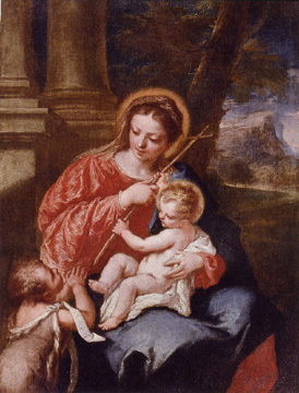 """Madonna and Child with Saint John the Baptist"" by Giovanni Antonio Guardi"