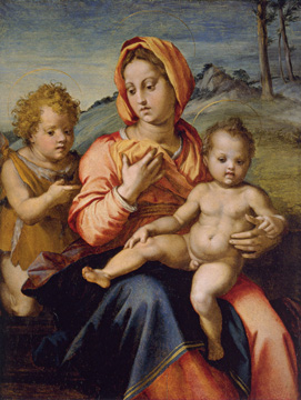 """Madonna and Child with the Infant Saint John in a Landscape"" by Andrea Del Sarto"