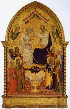 """Coronation of the Virgin"" attributed to the Master of the Misericordia"