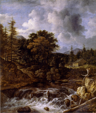 """Torrent in a Wood landscape"" by Jacob Ruisdael"