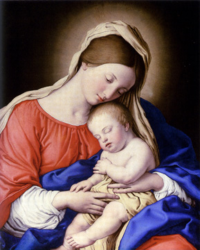 """Madonna and Sleeping Christ Child"" by Sassoferrato"
