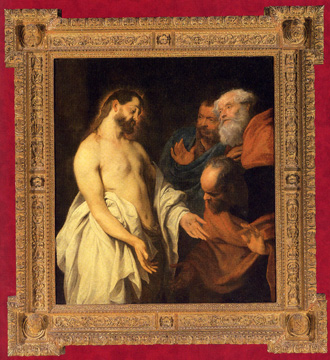 """The Incredulity of St. Thomas"" by van Dyck and studio"