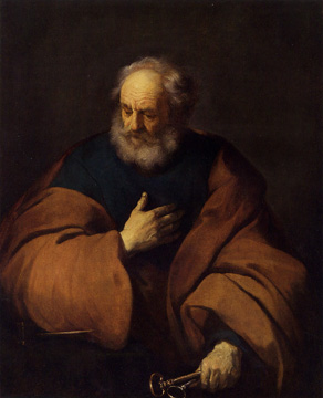 """Saint Peter Holding the Keys to the Church"" by Backer"