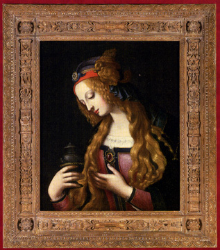 """The Penitent Magdalene"" by circle of da Vinci or Verrocchio"