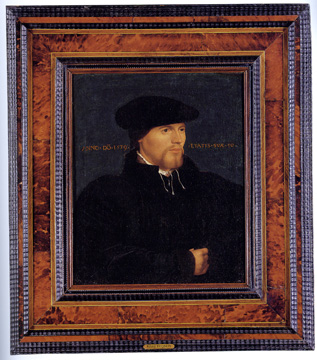 """Portrait of a Man in Black"" by follower of Holbein"