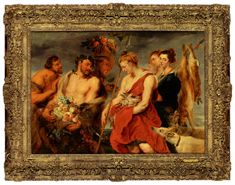 """Diana's Return From the Hunt"" by studio of Sir Peter Paul Rubens"