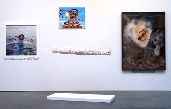 Works by, left to right, Barney, Samba, Friedman, Kiefer