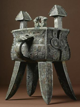 Late Shang Dynasty wine vessel