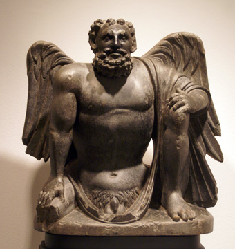 Winged atlas from Gandhara