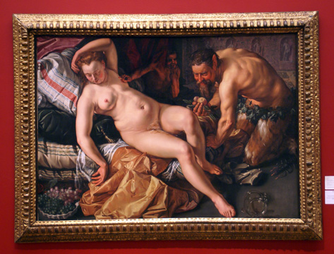"""Jupiter and Antiope"" by Goltzius"