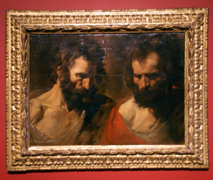 """Two Studies of a Bearded Man"" by Van Dyck"