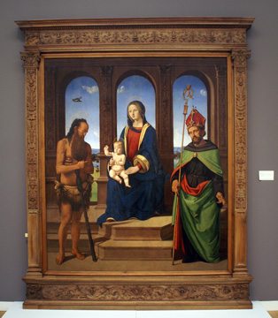 """Madonna and Child enthroned"" by di Cosimo"