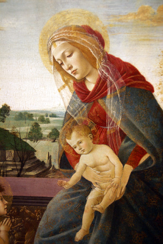 Detail of Botticelli Madonna