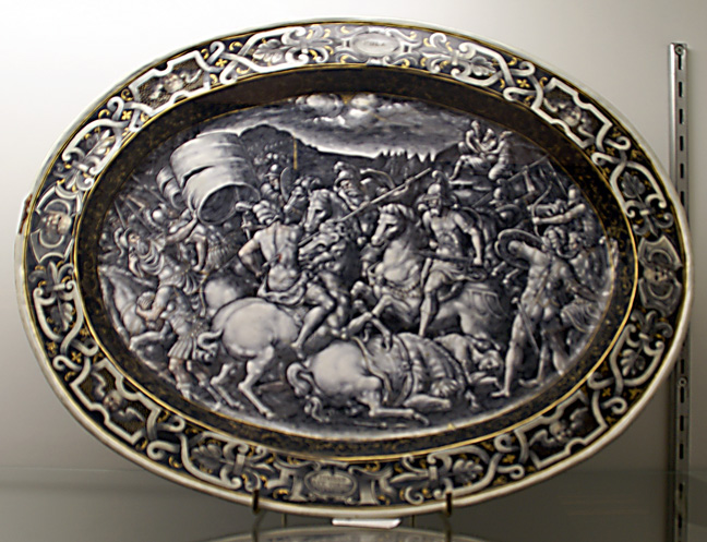 Grisaille majolica