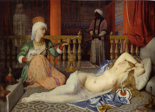 "Odalisque with a Slave"" by Ingres"