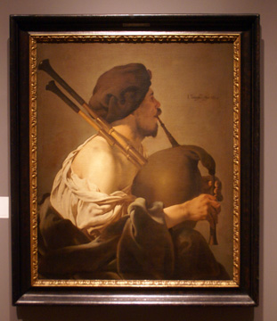 """Bagpipe Player in Profile"" by Ter Brugghen"
