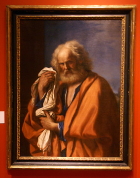"""Saint Peter Penitent"" by Guercino"
