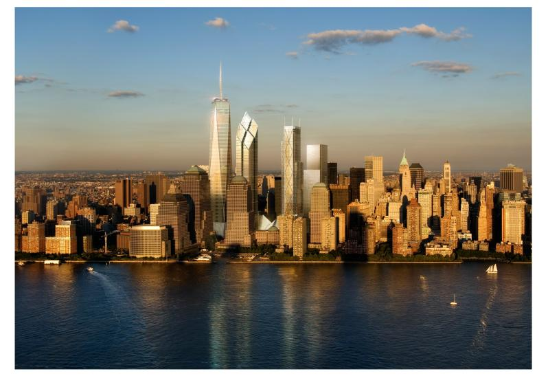Renderings of new Ground Zero towers